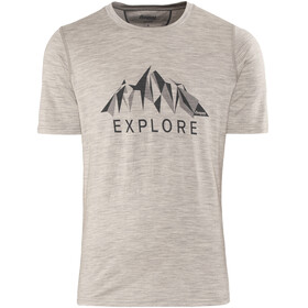 Bergans M's Explore Wool Tee Grey Melange/Night Blue